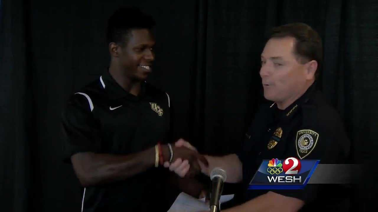 UCF football player takes down voyeurism suspect