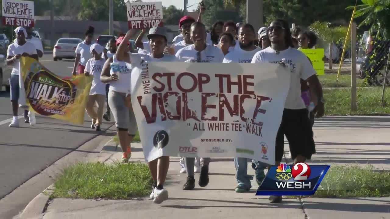 Neighborhoods call for end to gun violence