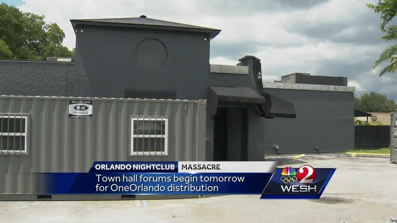 Town hall forums to begin for OneOrlando distribution
