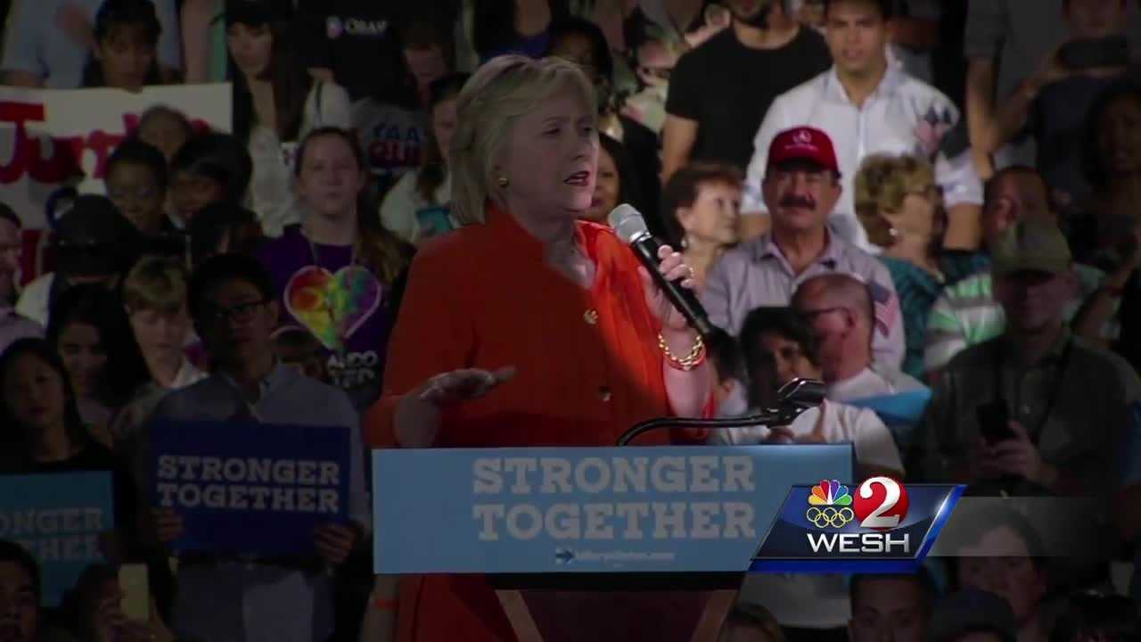 Pulse shooter's father shows at Clinton rally