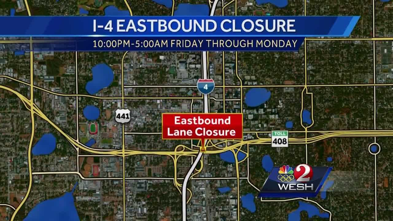 I-4 Ultimate closures on the way
