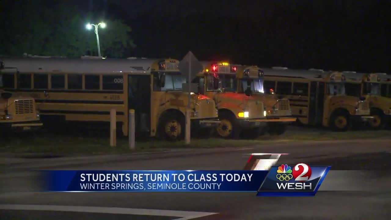 Many Central Fla. students return to class today