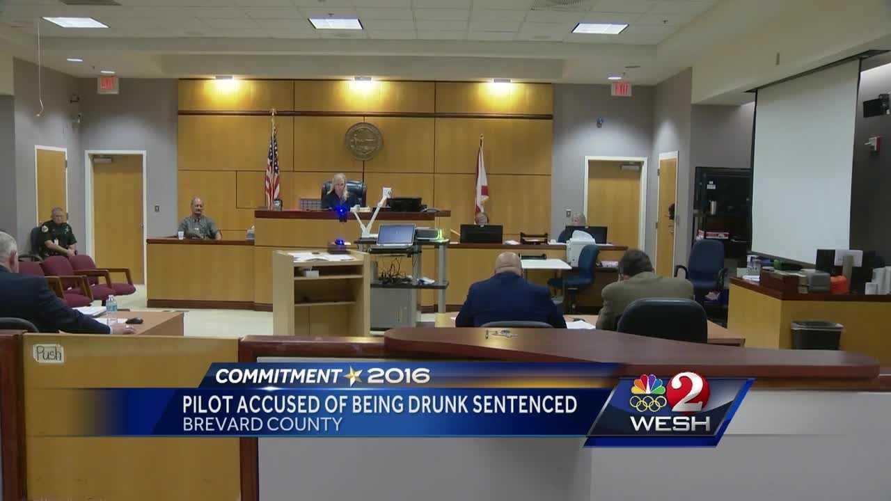 Pilot accused of being drunk sentenced