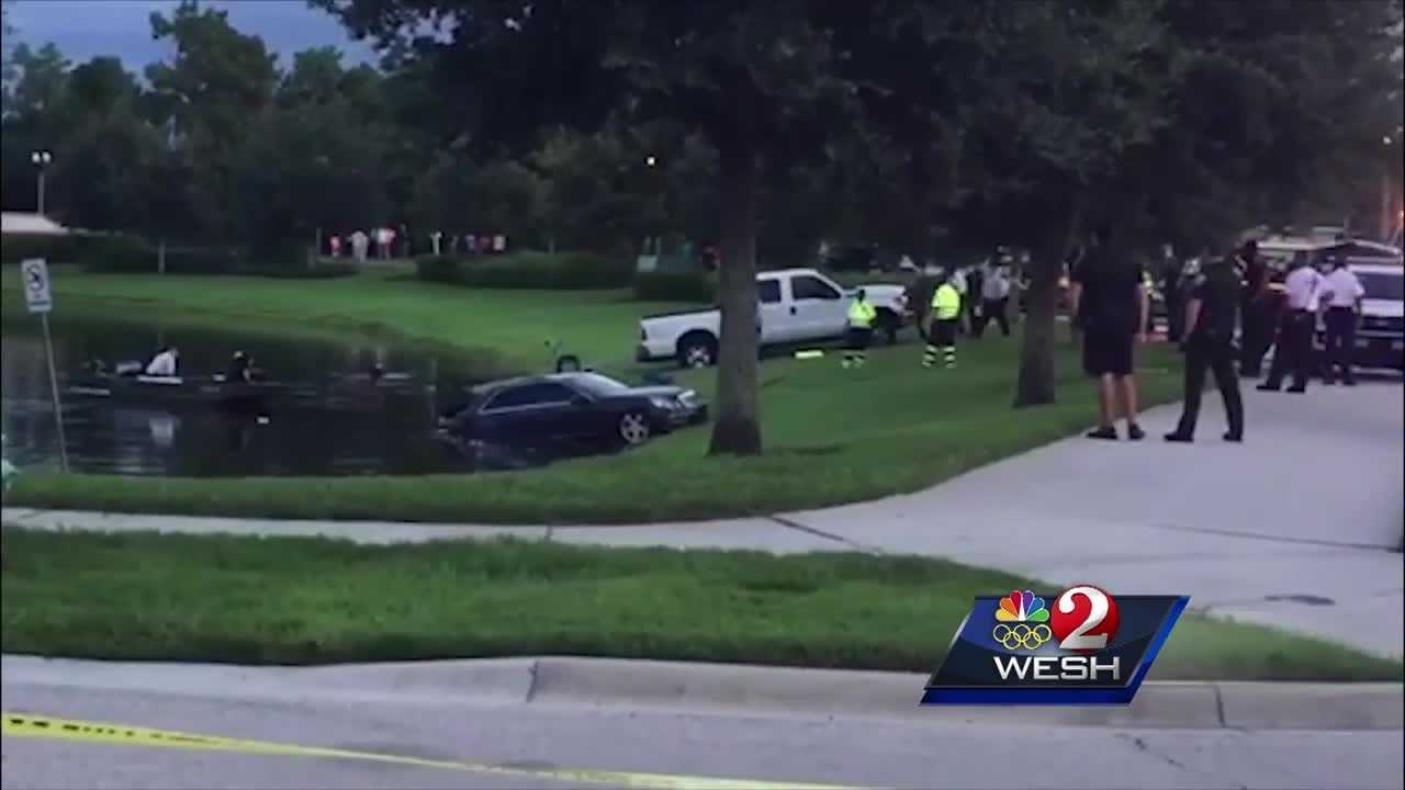 Car pulled from pond in Orange County