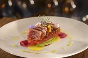 Yellowfin Tuna - Compressed Watermelon, Citrus Espelette, Black Cyprus Sea Salt, Avocado