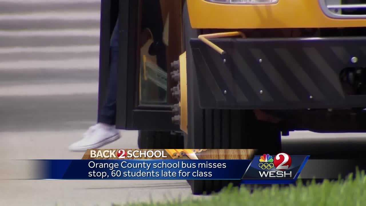 Orange County school bus misses stop, 60 students late