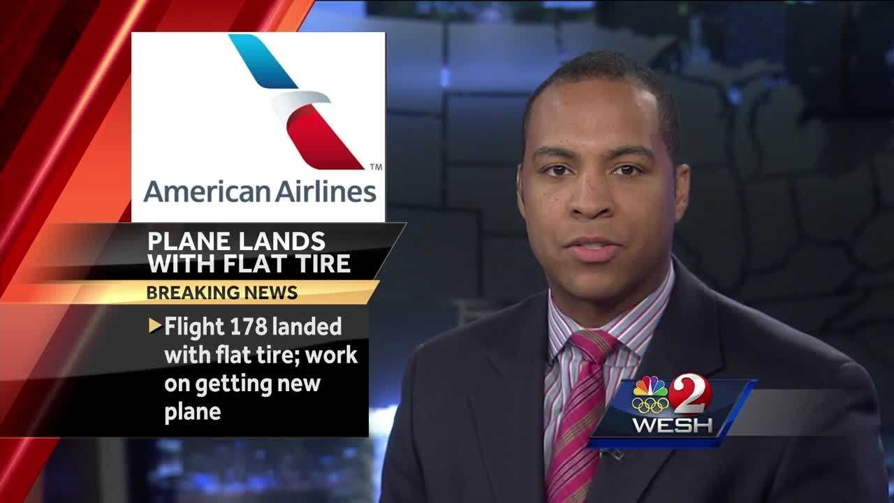 Flight aborted due to blown tire at Orlando International Airport