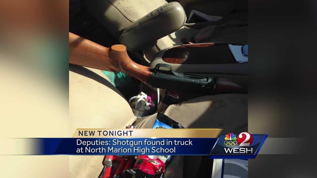 Deputies: Shotgun found in truck at North Marion High School