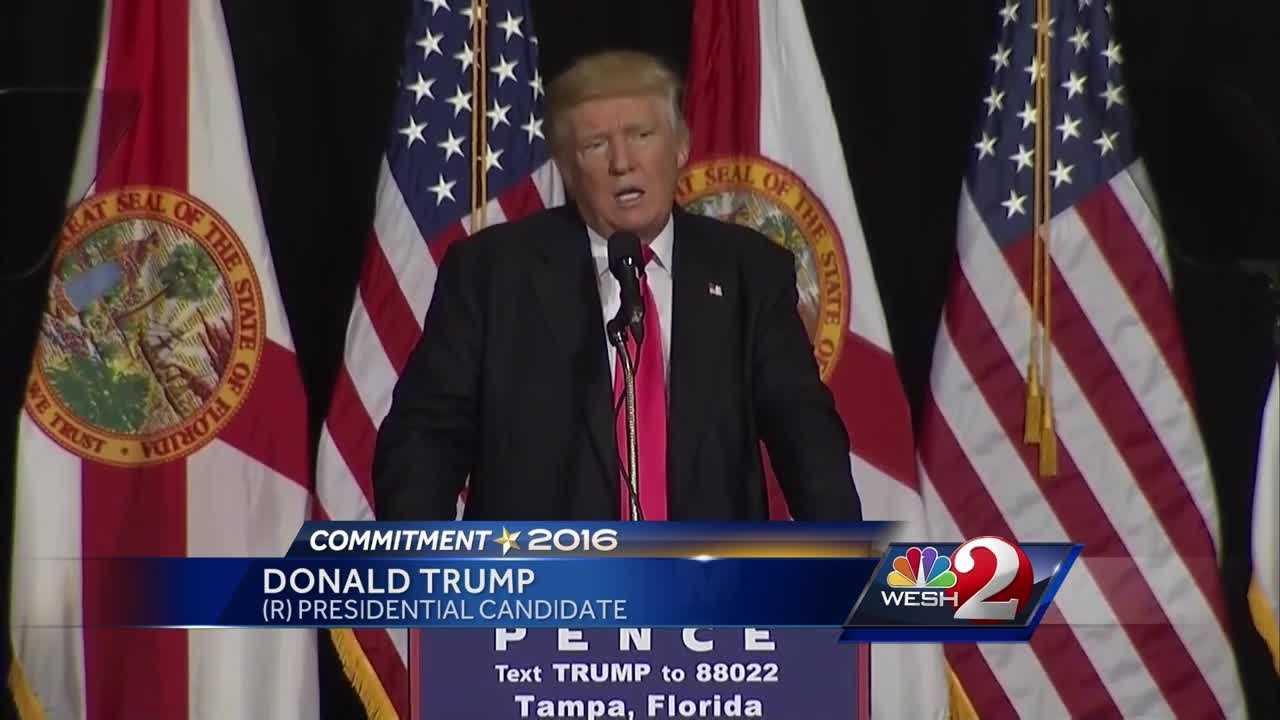 Trump campaigns in Tampa