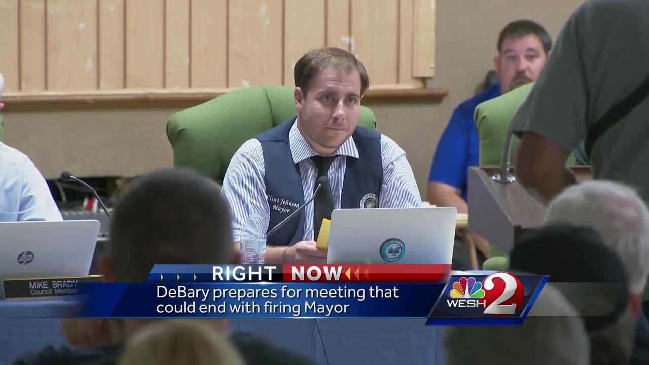 DeBary prepares for meeting that could end with firing mayor