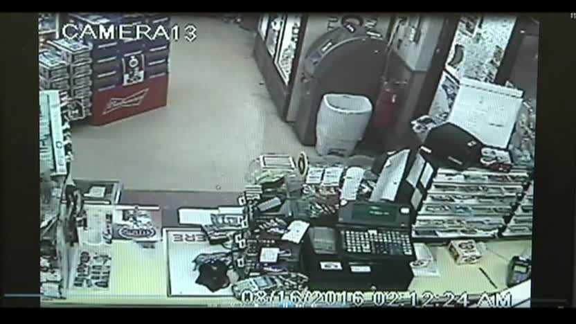 Lotto theft caught on camera