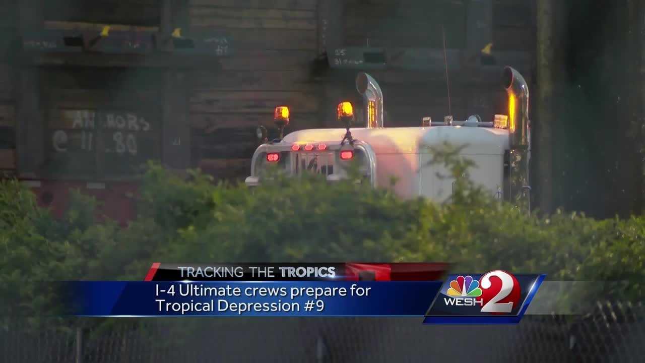 I-4 Ultimate crews prepare for Tropical Depression 9
