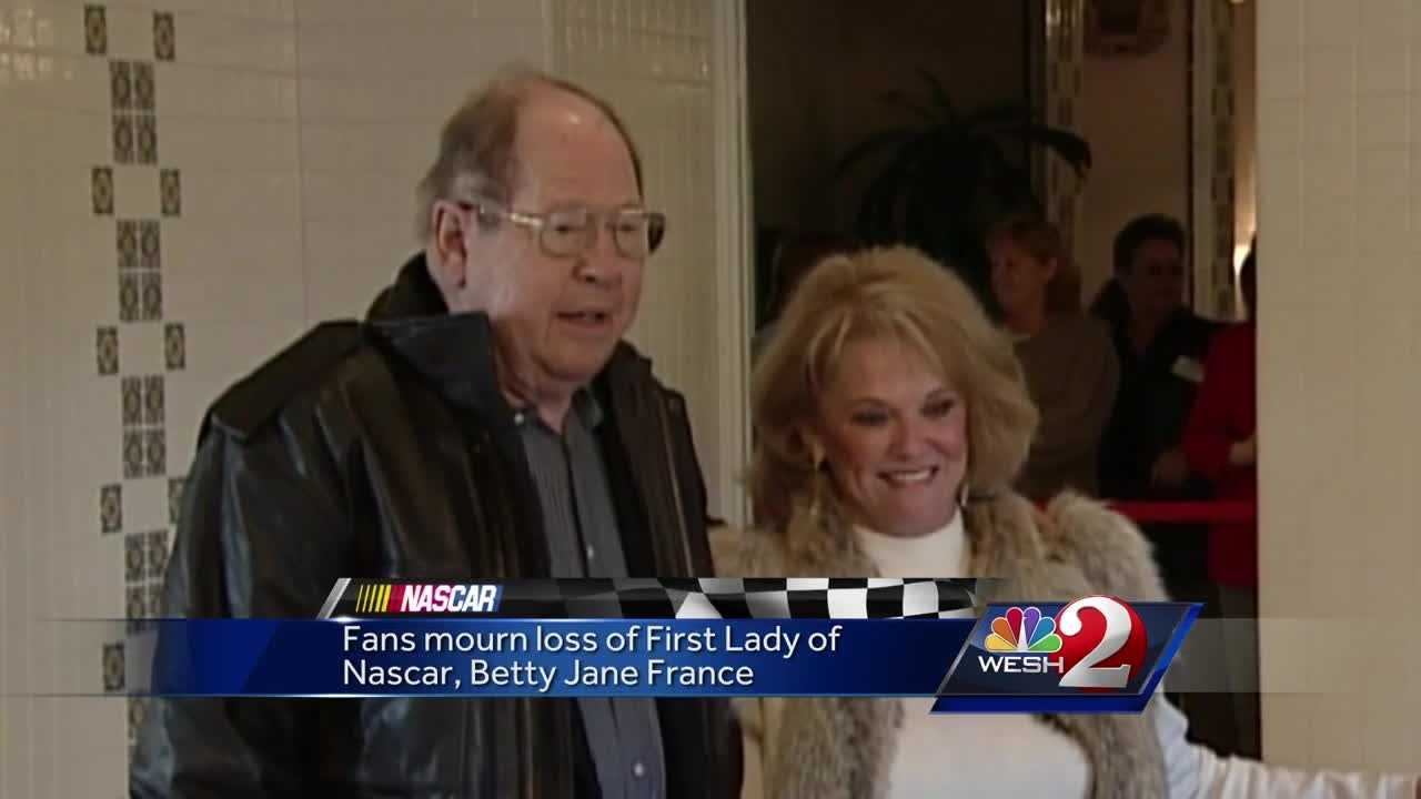Fans mourn loss of First Lady of NASCAR, Betty Jane France