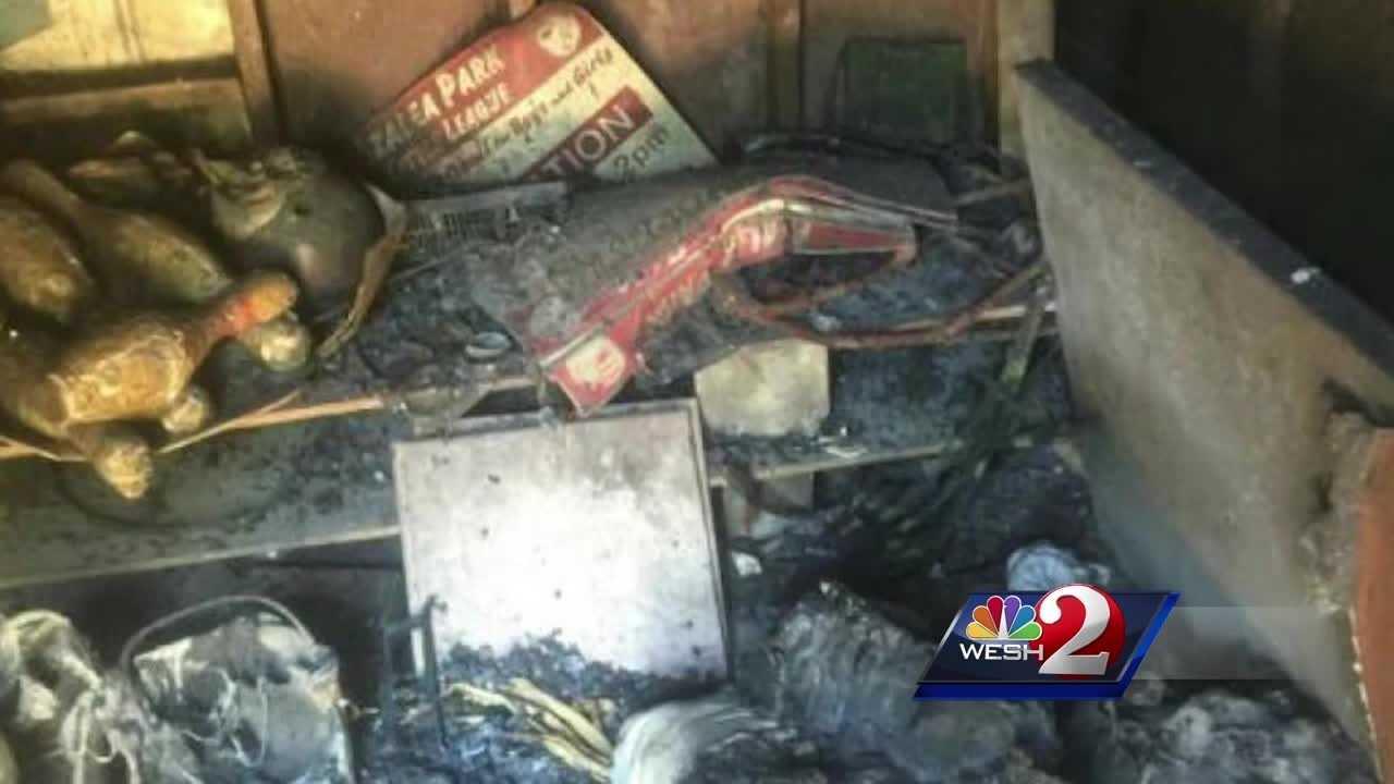 Fire destroys Little League gear