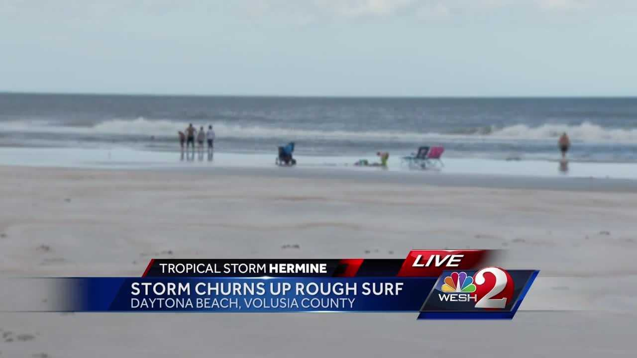 Hermine brings rough surf to Daytona Beach