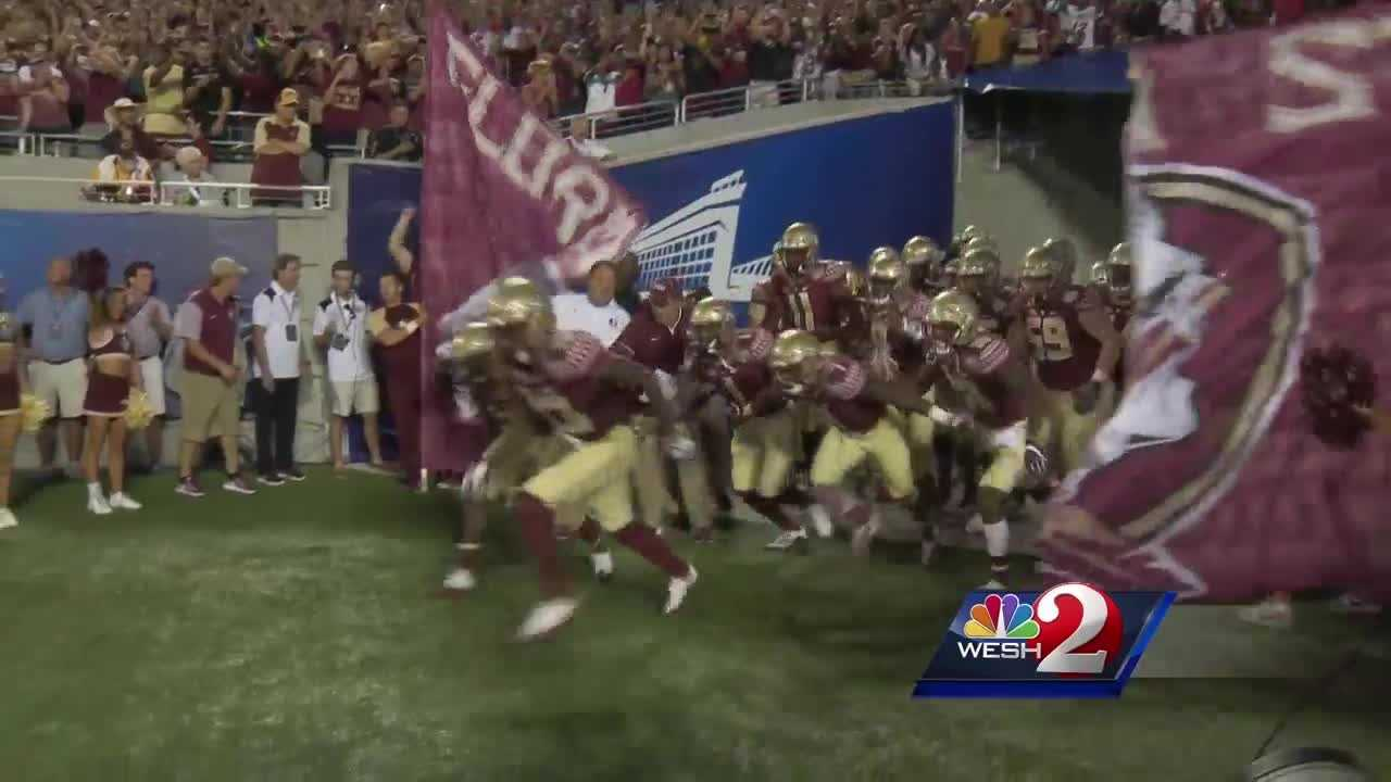 Thousands of fans cheer on FSU at Camping World Stadium