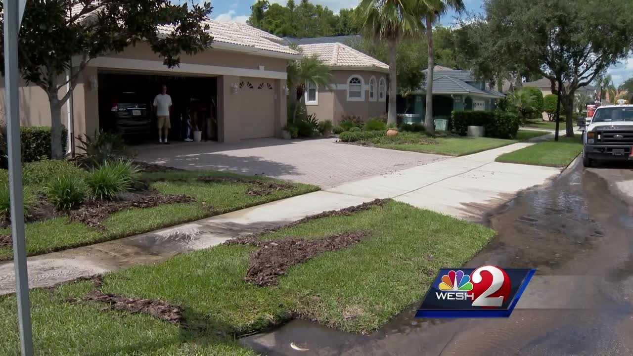 Water main break causes problems in Orange County neighborhood