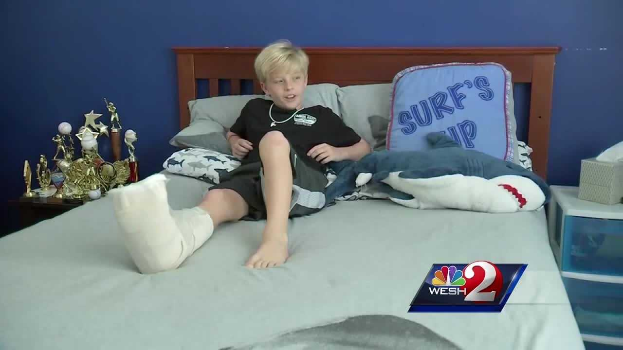 9-year-old speaks about shark bite