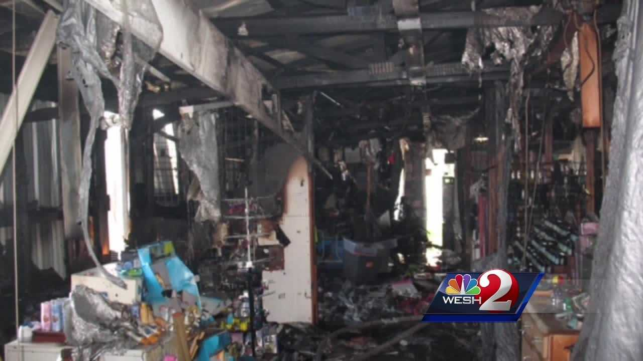 Fire tears through Daytona Beach flea market