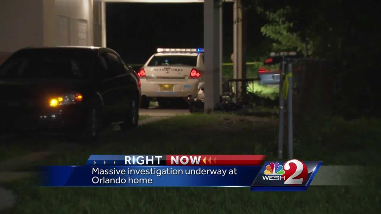 Massive investigation underway at Orlando home