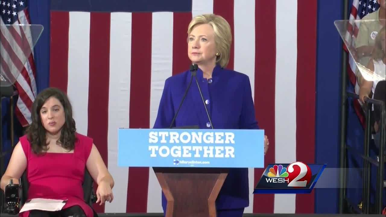 Clinton pledges help for those with disabilities during Orlando rally