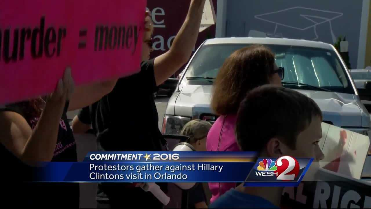 Supporters, protestors clash at Hillary Clinton rally