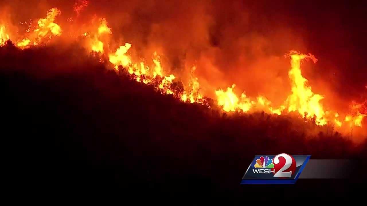 Hundreds of acres burned in Brevard County