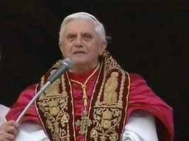 Ratzinger is the first German pope since the 11th century.
