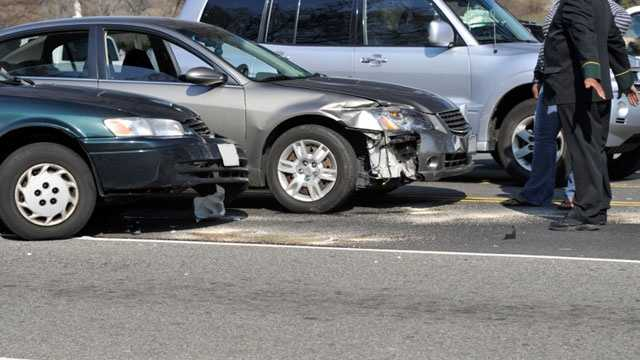 cars after car crash accident