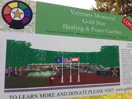 The garden, which is located at Veterans Memorial Park, will be dedicated in June.