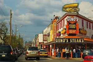Geno's Steaks also made an appearance in the film.