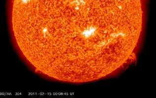 A solar flare is a sudden brightening observed over the surface of the sun.