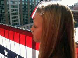 A 10-year-old girl from Lancaster was among the supporters who gathered on a Harrisburg rooftop.