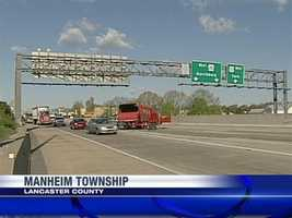 A crash on Route 30 eastbound by the ramp to Route 222 northbound in Manheim Township, Lancaster County, slowed traffic on Monday morning.