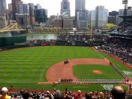 On Thursday, the Phillies played the Pirates at PNC Bank Park in Pittsburgh.