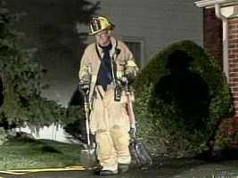 The fire started on the back deck and caused minor damage to the home.