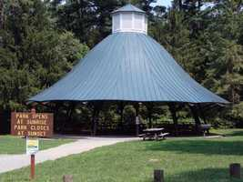 A large picnic pavilion is the main attraction in the 23-acre park.