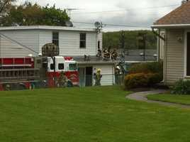 Crews doused a fire at the Midway Motel in southern York County shortly after noon on Monday.