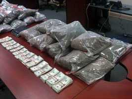 Between two homes, one in Newville and one in East Pennsboro Township, 2,696 live marijuana plants, 158 pounds of packaged marijuana, and $11,000 cash was seized, according to court documents. The street value of the plants is estimated at $500,000. Police said they think no one lived in the homes and they were used solely to grow the marijuana.