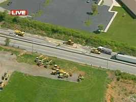 This is an aerial view of the crash scene.