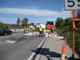 A PennDOT official shared these photos of the crash.