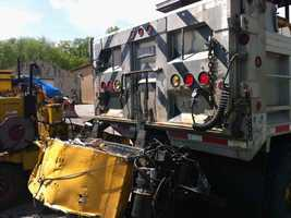 This is the PennDOT truck that was damaged in the crash.