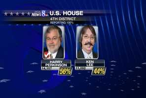 Perry will face Democrat Harry Perkinson in November.