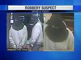He walked into the lobby, covering his face with a black shirt and demanded cash before running off, police said.