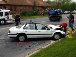 Two cars were involved in a head-on collision in Spring Garden Township, York County, on Thursday morning.