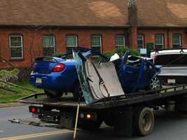 The crash happened along Richland Avenue near Kings Mill Road.