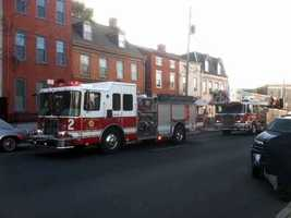 Firefighters were called to the 200 block of South Queen Street in Lancaster Monday morning.