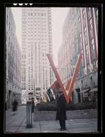 Fifth Avenue view of the entrance of the United Nations exhibit by OWI in Rockefeller Plaza, New York, N.Y. Marjory Collins took this photo in March 1943.