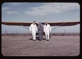 Returning from flight at a civilian pilot training school in Meacham Field, Forth Worth, Texas. Arthur Rothstein took this image in January 1942.