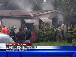 A dog woke up his owner Monday morning, alerting him to a fire in the southern Lancaster County house.